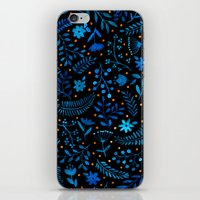 Night Autumn Pattern iPhone & iPod Skin