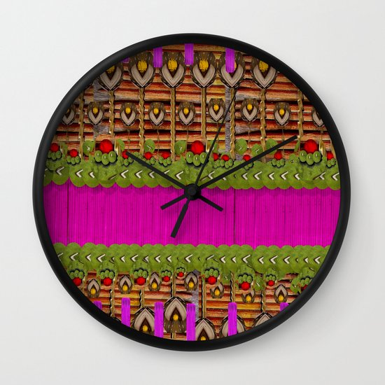 Silence In the Garden Wall Clock