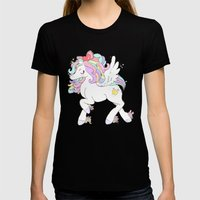PASTEL BABY Womens Fitted Tee Black SMALL