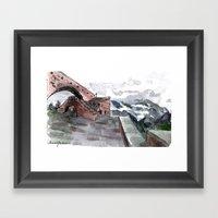 Sky Bridge Framed Art Print