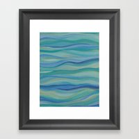 Surf Abstract Waves Framed Art Print