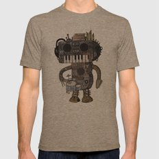 Musicbot Mens Fitted Tee Tri-Coffee SMALL