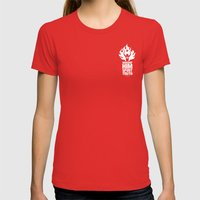 Worship Him In Spirit & … Womens Fitted Tee Red SMALL