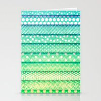 Mint Pois Pattern - For … Stationery Cards