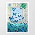 """""""Butterfly Zone"""" Art Print"""