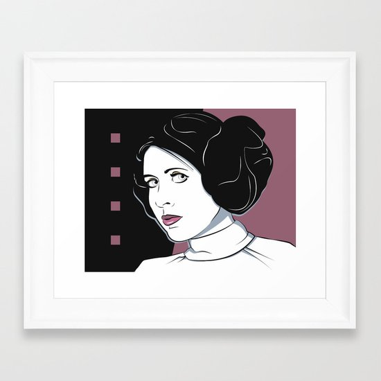 Princess Leia Pop Art Framed Art Print