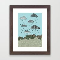 Rain Clouds Framed Art Print