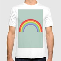 Rainbow Sky Mens Fitted Tee White SMALL