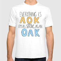 Strong As An O A K Mens Fitted Tee White SMALL