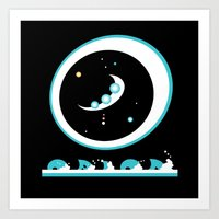 Oh But The Laughing Of T… Art Print