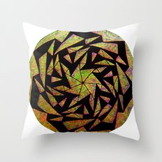Psychedelic Pinwheel Throw Pillow