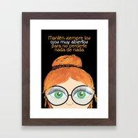 Con los ojos muy abiertos! Framed Art Print