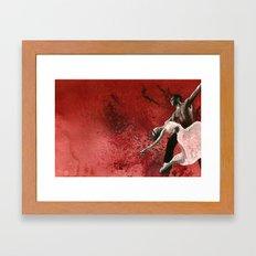 Ballet In Burgundy Framed Art Print