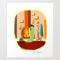 Little House Cat Art Print