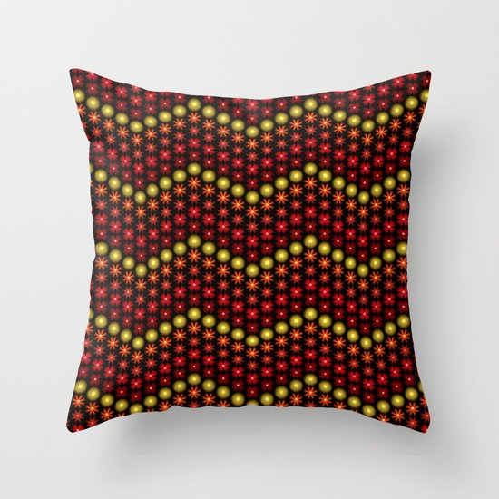 Beaded Chevrons II Throw Pillow