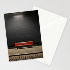 The red bench Stationery Cards