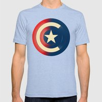 Captain Mens Fitted Tee Tri-Blue SMALL