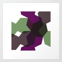 #365 Clash Of Heptagons … Art Print