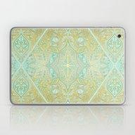 Mint & Gold Effect Diamo… Laptop & iPad Skin
