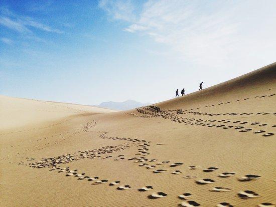Hikers in Death Valley Art Print