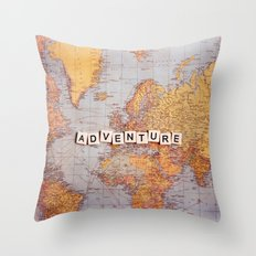 adventure map Throw Pillow