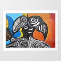 Two Toucans Art Print