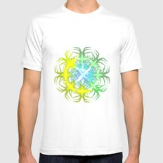 Forest Begin White SMALL Mens Fitted Tee