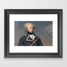 Portrait of Lafayette by Joseph désiré Court Framed Art Print