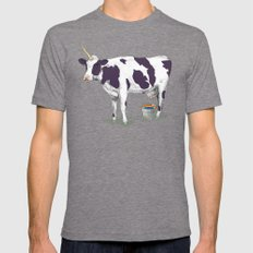 UNICOWRN Mens Fitted Tee Tri-Grey SMALL