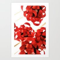 Red in the air Art Print