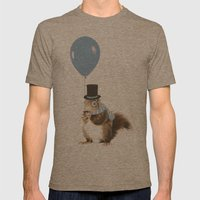 Party Squirrel Mens Fitted Tee Tri-Coffee SMALL
