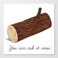You Can Ask It Now (The Log Lady's Log) Canvas Print