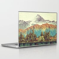 autumn Laptop & iPad Skins featuring The Unknown Hills in Kamakura by Kijiermono