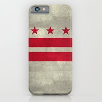 Washington D.C flag with worn stone marbled patina iPhone 6 Slim Case