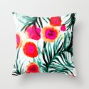 Olivia Flower Throw Pillow