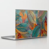 autumn Laptop & iPad Skins featuring Autumn Pattern by Klara Acel
