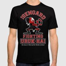 Isengard Fighting Uruk-hai Black SMALL Mens Fitted Tee