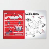 Lancia Delta History Model Kit in the WRC Canvas Print
