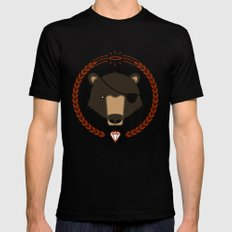 Mr. Bear Black Mens Fitted Tee SMALL