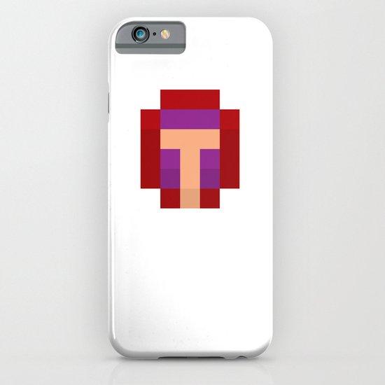 hero pixel purple red iPhone & iPod Case