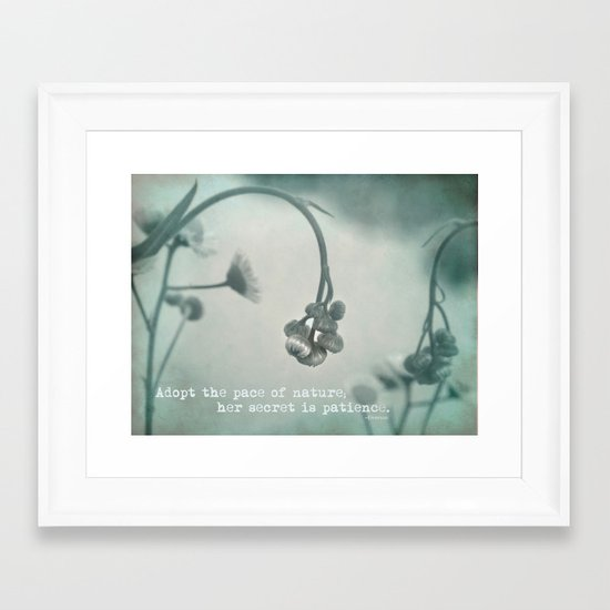 Patient Nature Framed Art Print