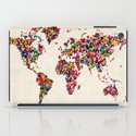 Butterflies Map of the World Map iPad Case