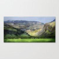 Icelandic Ponies Canvas Print