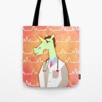 Love Doctor Unicorn Tote Bag