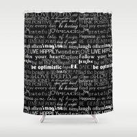 Inspirational Words Shower Curtain