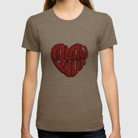 Follow You're Womens Fitted Tee Tri-Coffee SMALL