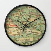 Artful Journey Wall Clock