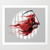 red reaper Art Print