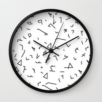 short lines Wall Clock