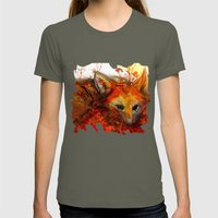 Fox In Sunset III Womens Fitted Tee Lieutenant SMALL